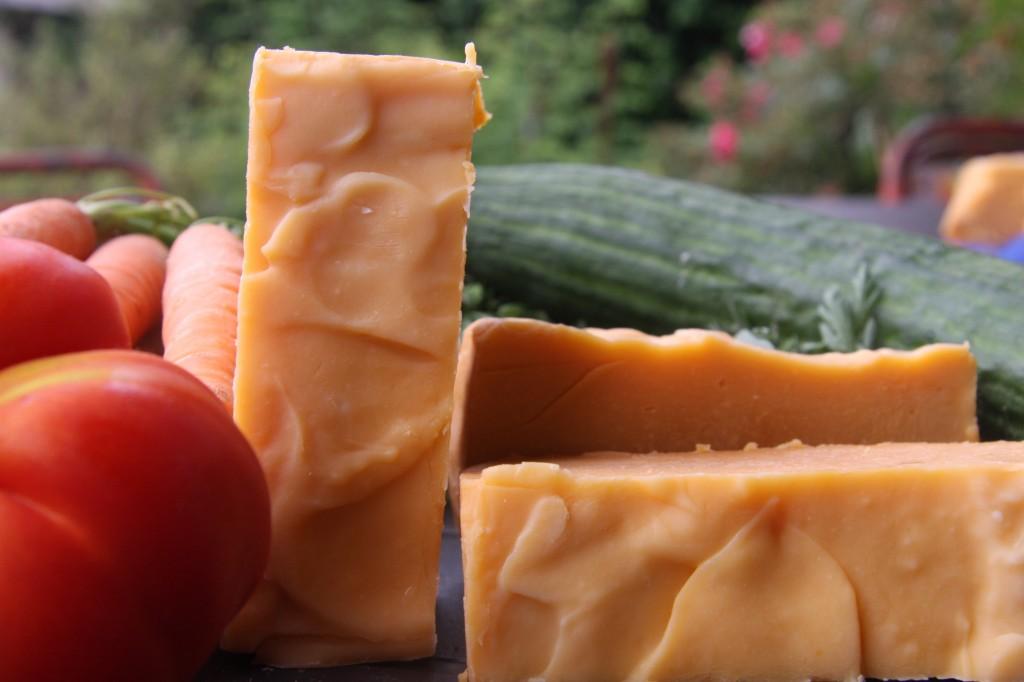 Panier du marché, savons aux légumes de l'été