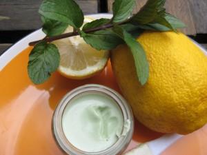 creme pieds menthe citron